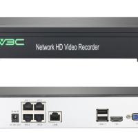 5MP HD 4 Port H.265 POE NVR